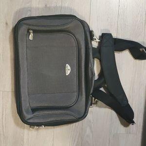 """Samsonite Grey Slim Messenger Laptop Bag 15.6"""""""
